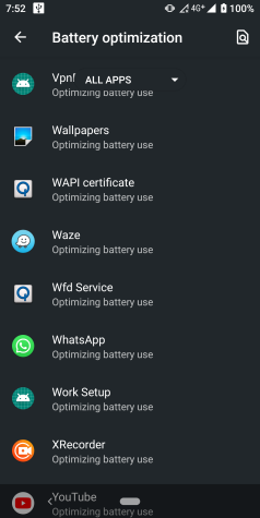 optimización de batería waze