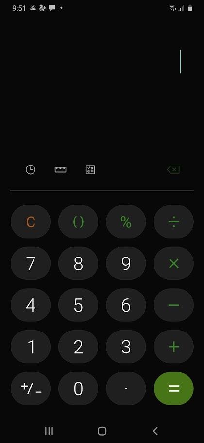 Calculadora Samsung